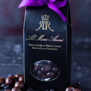 Black currant in dark chocolate